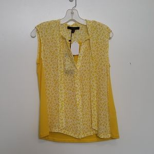 New MaxMara Weekend Ariete Yellow Floral Blouse
